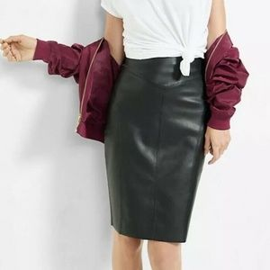 Express High Waist Faux Leather Pencil Skirt 6
